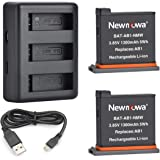Newmowa Remplacement Batterie (2-Pack) et Rapid 3 canaux Chargeur USB pour DJI OSMO Action Camera
