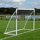 Samba But de Football de 2,43 m x 1,83 m - Livré avec poteaux de But pour extérieur, Filet, Pinces et piquets