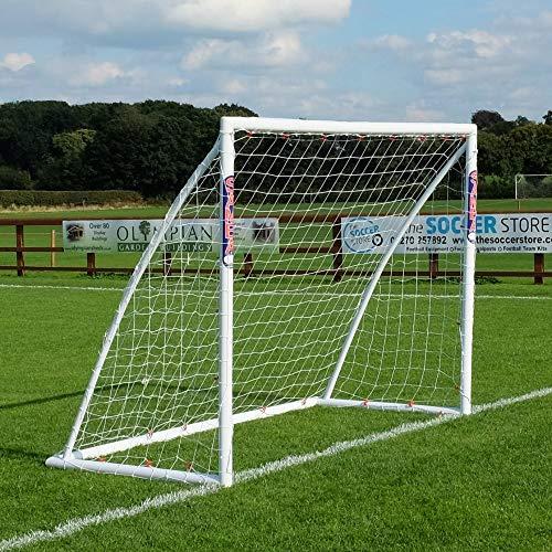 Samba Fußballtor · Wetterfestes Fussballtor für Kinder · neuartiges Einrastsystem (Safe Locking Model) · 1 Fussballtor Garten 2,4 x 1,8 m Fußballtor