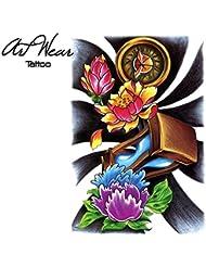 "Tatuaje temporal realizado por un artista ""Hourglass Tattoo 2"" - ArtWear Tattoo - B0372 M"