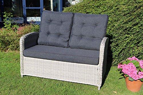 Destiny 2er Gartenbank Merano Relax Vario Vintage Weiß Loungesofa Sofa