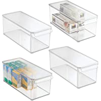 mDesign boîte de rangement avec couvercle pour frigidaire ou congélateur – bac alimentaire en plastique pour denrées…