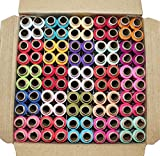 #7: DFH, Premium Quality Sewing Threads, Set of 100 Multi Col our Spools (Multi Colour)