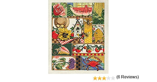 Janlynn 14 Count Summer Montage Cross Stitch Kit 11 by 14-Inch