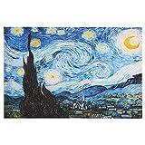 70x100cm - Leinwanddrucke Wandkunst - Van Gogh Ölgemälde Replik Sternennacht Drucke auf Leinwand Wandkunst für Wohnzimmer (VG04, 70 x 100 cm)