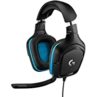 Logitech G432 kabelgebundenes Gaming-Headset, 7.1 Surround Sound, DTS Headphone:X 2.0, Bügelmikrofon mit Flip…