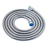 #8: Alton Chromed Stainless Steel 1.5 Meter Double-buckle Flexible Shower Hose Handshower Hose Replacement Shower Tube, Health Faucet Tube, Flexible Tube