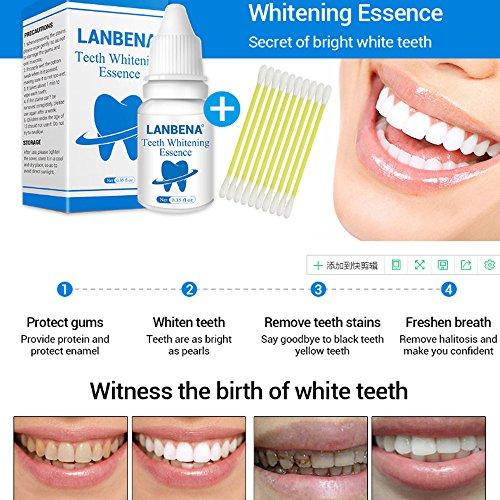 Einfache Zahnaufhellung, Natürliche Zahnreinigung Whitening Liquid,Zahnweiß-Pulver Wasser, Plaque entfernen zu Rauchen Flecken Tee Flecken Zahnpflege,Hygienereinigung, 10 ML ()