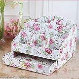 Eeayyygch Aufbewahrungsbox, Kosmetische Aufbewahrungsbox, Tischplattenveredelung, Schublade, Aufbewahrungsartikel, Schminkkoffer, Kosmetikkoffer, Gartenblume (Farbe : Garden Flower)
