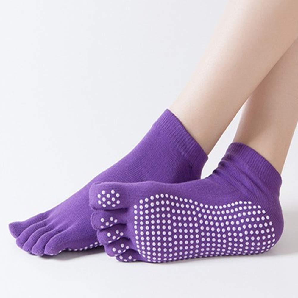 MXYXY Gekämmte Baumwolle Yoga Sportsocken rutschfeste Fingersocken Yoga Socken Damensocken Fitness Bequem Atmungsaktiv…
