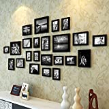 #10: Set of Photo Frames Extravagant Wall Hanging Individual Photo Frame- Set Of 23 (Multiple Size , Black) By Paper Plane Design