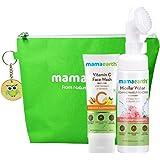 Mamaearth Vitamin C No Make Up Combo with FREE Bag(Vitamin C Face Wash 100ml + Micellar Water 150ml)