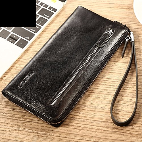 hoom-long-bi-fold-wallet-purse-sac-a-main-en-cuir-noir