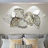 Gbfyld Creatieve handgemaakte bladeren, wanddecoratie van metaal, moderne luxe wandkunst, wanddecoratie - voor werkkamer / wo