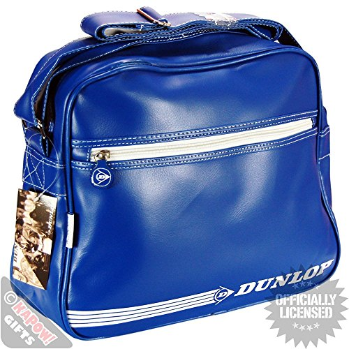 Dunlop Original Sports Stripe Messenger Bag - Blu/White