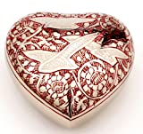 Urns UK Cremation Memorial Heart Keepsake Urn...