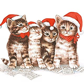 Ambiente 3 Ply Paper Lunch Napkins, Christmas Singing Cats