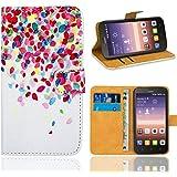 Huawei Y625 Funda, FoneExpert® Wallet Flip Billetera Carcasa Caso Cover Case Funda de Cuero Para Huawei Y625 (Pattern 1)