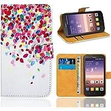 Huawei Y625 Custodia Cover Case, FoneExpert® Flip Cover Case Custodia Pelle accessori Protective Cover per Huawei Y625 (Pattern 1)