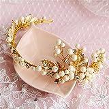 Weddwith Kopfschmuck Braut Kopfbedeckungen europäischen Stil Hochzeitskleid koreanische Kleid Braut Gold Kopfschmuck Braut Haarschmuck weiße Brautkleid Braut Accessoires Braut handgemacht Kopfschmuck