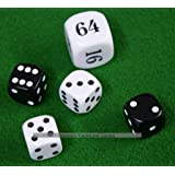 Masters Traditional Games Dice And Doubling Cube for Backgammon