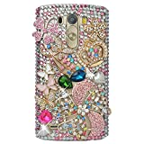 Spritech (TM) ? Carcasa 3d bricolaje Bling Strass diamante case casos transparente Back Cover Cristal Funda Cráneo Funda Hard Carcasa para LG Optimus