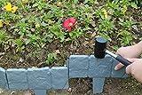 PestExpel 10 pack piedra gris adoquinada efecto jardín césped frontera planta frontera
