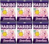Haribo Chamallows Pink & White Marshmallows 150g (Pack of 6)
