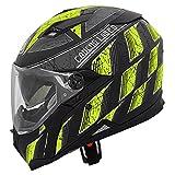 Caberg Stunt Steez Motorcycle Helmet S Matt Black/Yellow Fluo