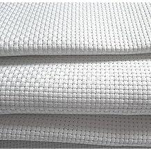 Tela Aida ricamo contato 14, 100% cotone tessuto a punto croce, con 11 misure a scelta 100 x 100 cm bianco