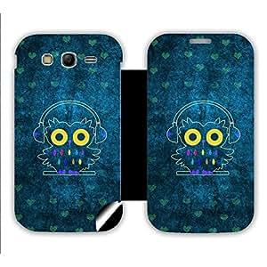 Skintice Designer Flip Cover with a hi-res printed Vinyl Wrap-around for Samsung Galaxy Grand Neo , Design - Music Owl