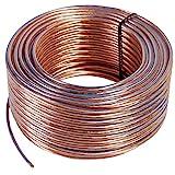 Misterhifi kabel, hifi--zubehör & mehr 25 m Lautsprecherkabel 2 x 2,5 mm², Litze: 2 x 78 x 0,2 mm, transparent isoliert, Kupferkabel mit 99,99 % OFC, Made in Germany, Boxenkabel / Audiokabel für Lautsprecher und Heimkino