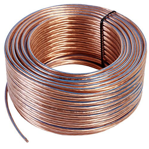 Misterhifi kabel, hifi--zubehör & mehr 50 m Lautsprecherkabel 2 x 2,5 mm², Litze: 2 x 78 x 0,2 mm, transparent isoliert, Kupferkabel mit 99,99 % OFC, Made in Germany, Boxenkabel / Audiokabel für Lautsprecher und Heimkino