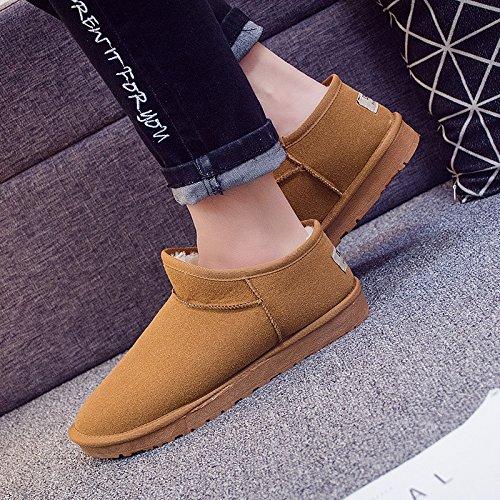 SQIAO-X- Snow Boots, corto-versione coreana di fondo piatto stivali inverno caldo più studenti di velluto lazy ossa scarpe coppie coppie scarpe di pane La scheda (maschio)
