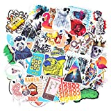 Chileeany Lot de 100 Rétro Vintage Stickers Graffiti Stickers Valise Autocollants pour Valise Voyage Skateboard Guitare Voiture Tuning Moto