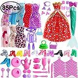 80c9435ac71 Outee 85 Piezas de Ropa de muñecas Barbie Set Incluyendo 10 Piezas de Ropa  Barbie 70 Piezas de Accesorios de muñeca Barbie Party Grown Outfit para  niñas y ...