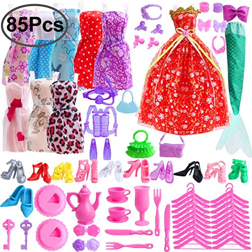 Outee 85 Piezas Ropa muñecas Barbie Set Incluyendo