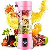 LEVERET Rechargeable Portable Electric USB Juicer Bottle Blender for Making Juice, Travel Juicer Jar for Fruits & Vegetables