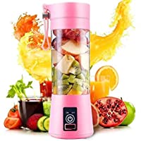 RUUBY Portable Electric USB Juice Maker Juicer Bottle Blender Grinder Mixer,4 Blades Rechargeable Bottle with (Multi…