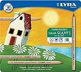Lyra Color Giants naturale in confezione di Metallo da 18 pastelli