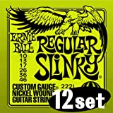 Ernie Ball 2221-12 Regular Slinky Electric Guitar Strings (Box of 12 Sets)