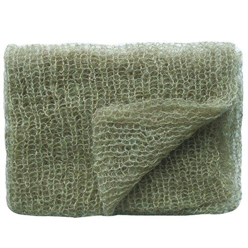 iEFiEL Nouveau-né bébé Unisex Accessoire tricoté Enveloppe + Bandeaux cheveux Photographie Props (8) Vert armée 1