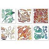 Fossil Rubbing Plates - Science Art & Craft 6 Pk