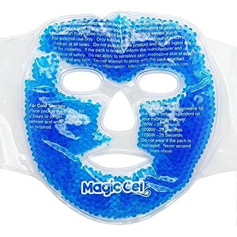 Masca de Enfriamiento Para El Rostro de Alta Calidad por MagicGel: Para Dolores de Cabeza, la Piel, el Sueño y Los Ojos