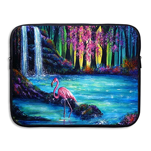Fighwy Flamingo Falls Briefcase Handbag Case Cover for 13-15 inch Laptop, Notebook, MacBook Air/Pro (Hp 14-zoll-fall)