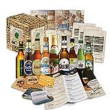 Bier Spezialitäten aus Deutschland (Die besten deutschen Biere) als Probierpaket zum verschenken in Geschenkverpackung (Bier + Tasting-Anleitung + Bierbroschüre + Brauereigeschenke + Geschenkkarton) 9 x 0,33l