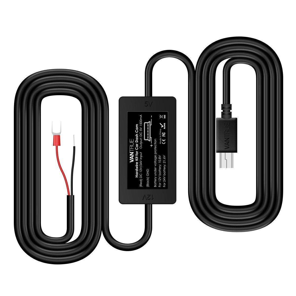 Vantrue Dash Cam Mini USB Car Hard Wire Kit Micro USB Port Car ...