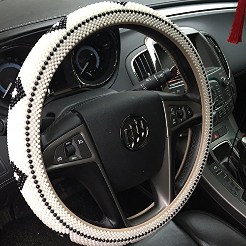 handmade-bling-acrylic-pearl-beaded-steering-wheel-cover-for-most-5-seats-carsblack-and-white-mosaic