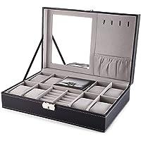 Styleys Wrist Watch Display Box Storage Holder, Watch Case, Watch and Sunglasses Organizer for Men, Jewelry Dispay Watch…