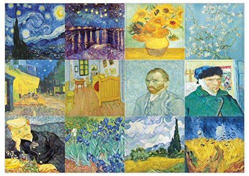 creanoso Van Gogh berühmten Gemälde Decor Sticky Notes–10Blatt–Artistic Inspirierende Wand Aufkleber für Männer, Frauen, Teenager. Tolles zum Aufkleben auf Laptops, Wände, Tisch, Schreibtisch, und alle Oberflächen